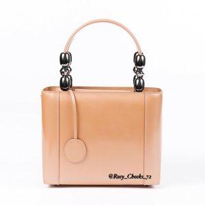 Christian Dior Malice Vintage Tote Bag Camel Tan